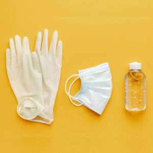 top-view-gloves-with-medical-mask-hand-sanitizer